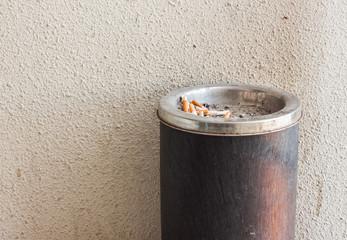 the stub in ashtray