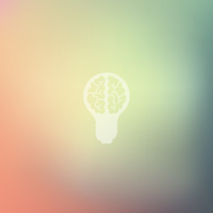 lightbulb icon on blurred background