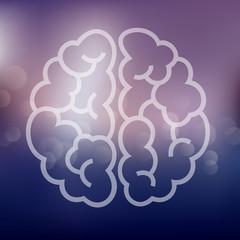 brain icon on blurred background