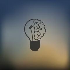 lightbulb icon on blurred background