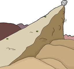 Isolated Cliff with Boulder