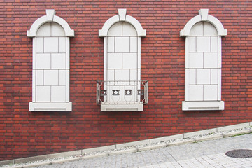 Exterior wall decorative feature