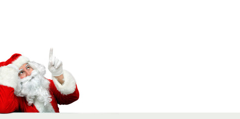 Weihnachtsmann mit Tafel