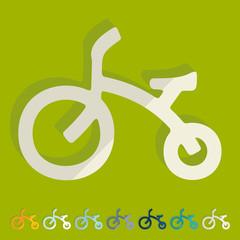 Flat design: childrens bike