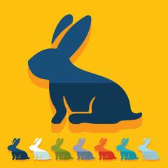 Flat design: easter rabbit