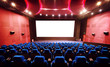 Empty movie theater with red seats - 73813881