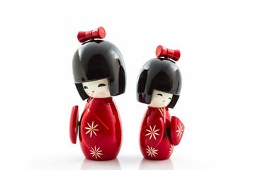 Japanese kokeshi dolls.