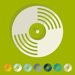 Flat design: vinyl record