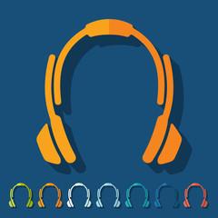 Flat design: headphones