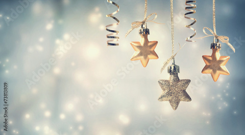 Leinwanddruck Bild Christmas star ornaments