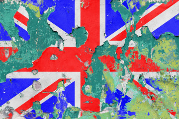 Grunge British, United Kingdom Flag