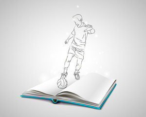Doodle man playing football.