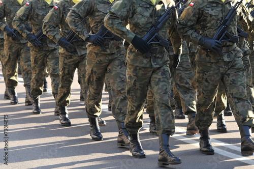 marching polish army - 73814875