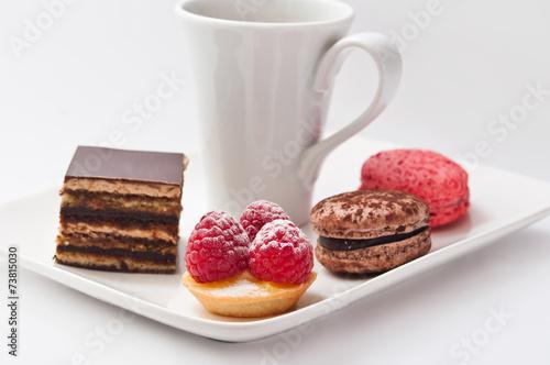 Papiers peints Macarons café gourmand