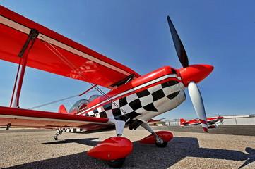 Popular red sport plane