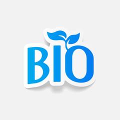 realistic design element: bio sign