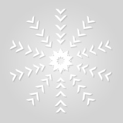 vector abstract snowflakes