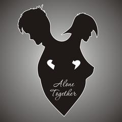 Влюбленная пара вместе