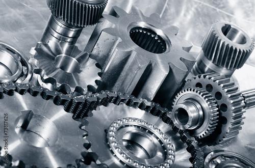 industrial cogwheels, bearings, titanium and steel - 73817626