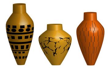 Ceramiczna waza - ilustracja
