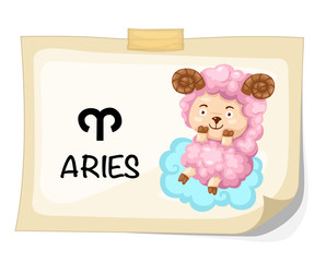 Zodiac signs - Aries vector Illustration