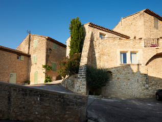 Old houses in Provence village Grambois