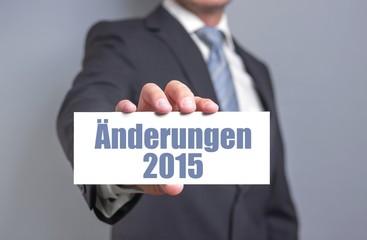 Änderungen im Jahr 2015