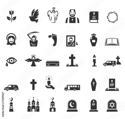 Fototapeta Funeral icons