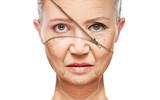 concept skin aging. anti-aging procedures, rejuvenation poster