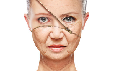 concept skin aging. anti-aging procedures, rejuvenation