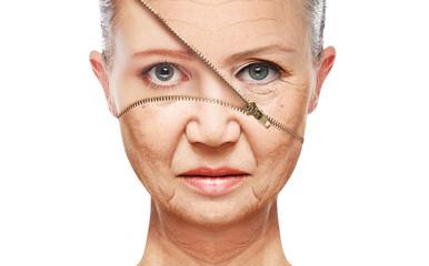 concept skin aging. anti-aging procedures, rejuvenation
