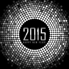 Vector - Happy New Year 2015 - frame with silver disco lights