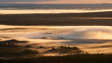 Morgennebel in Finnland