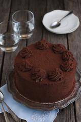 Chocolate and cocoa cake