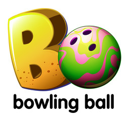 A letter B for bowling ball