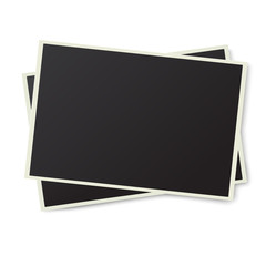 Two photo frames isolated