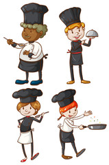 Four excellent chefs