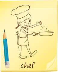 A post-it with a chef