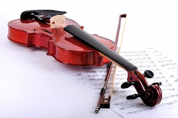 Violin on the notes