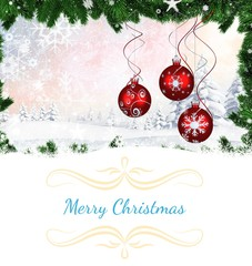 Composite image of Composite image of christmas card