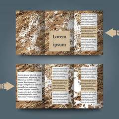 Brochure template with abstract background