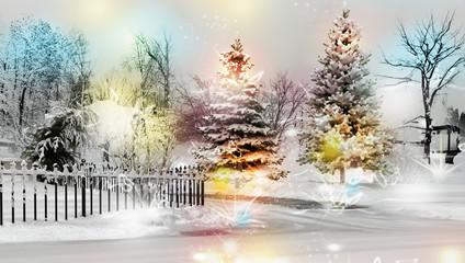 Paesaggio Invernale Innevato 3d