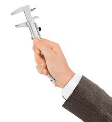 Hand with caliper