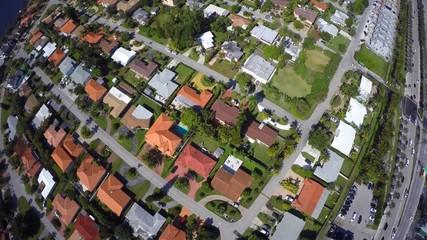 Aerial neighborhood flyover