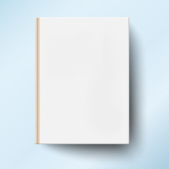 Blank book cover isolated