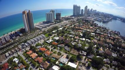 Aerial video Sunny Isles Beach FL USA