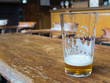 beer glass on bar table - 73822206