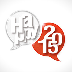 bulles rayées : happy 2015