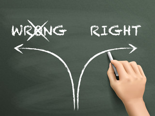 choosing the right way instead of the wrong one