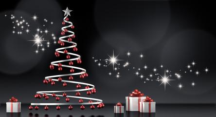 Stilisierter Weihnachtsbaum mit Geschenken 2